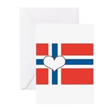 Cute I love norwegian boys Greeting Cards (Pk of 20)