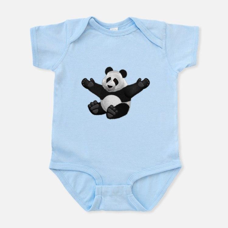 3D Fluffy Panda Bear Body Suit