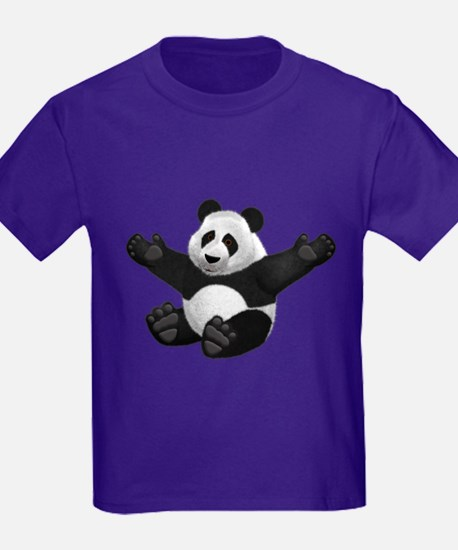 3D Fluffy Panda Bear T-Shirt