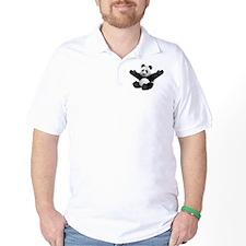 3D Fluffy Panda Bear T-Shirt