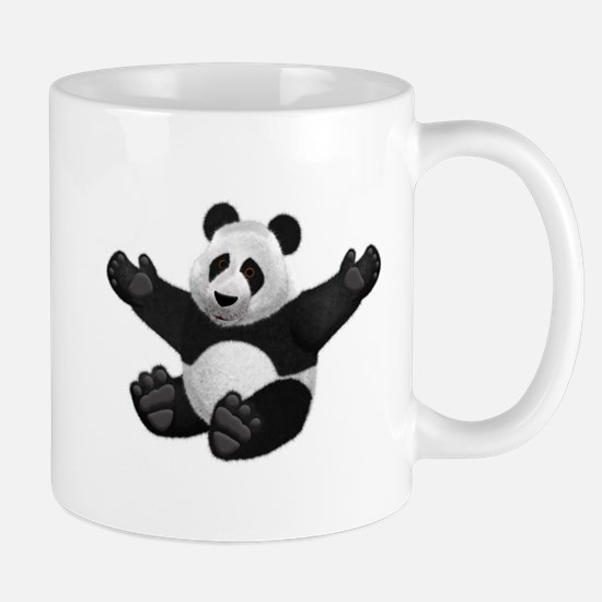 3D Fluffy Panda Bear Mugs