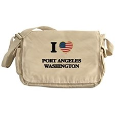I love Port Angeles Washington Messenger Bag
