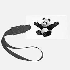3D Fluffy Panda Bear Luggage Tag