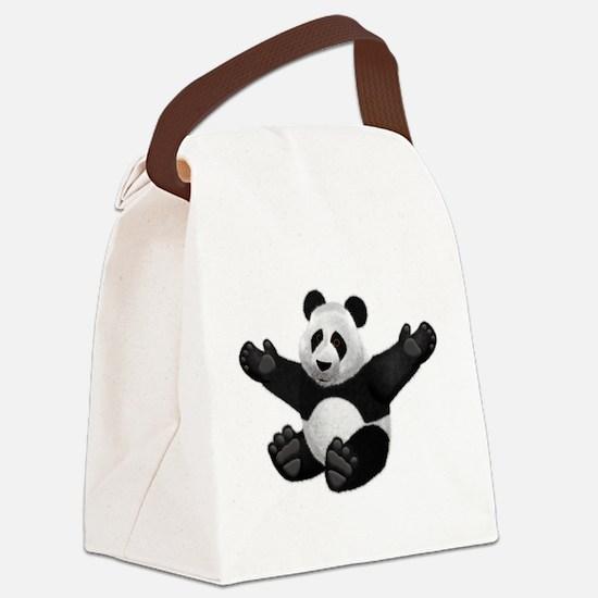 3D Fluffy Panda Bear Canvas Lunch Bag