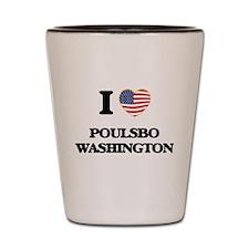 I love Poulsbo Washington Shot Glass