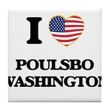 I love Poulsbo Washington Tile Coaster