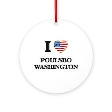 I love Poulsbo Washington Ornament (Round)