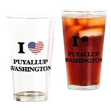 I love Puyallup Washington Drinking Glass