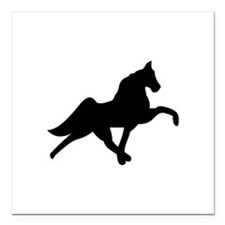 "Tennessee Walker Square Car Magnet 3"" x 3"""