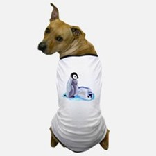 Penquin and Harp Seal Dog T-Shirt
