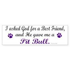 God Gave Me A Pit Bull Bumper Bumper Sticker