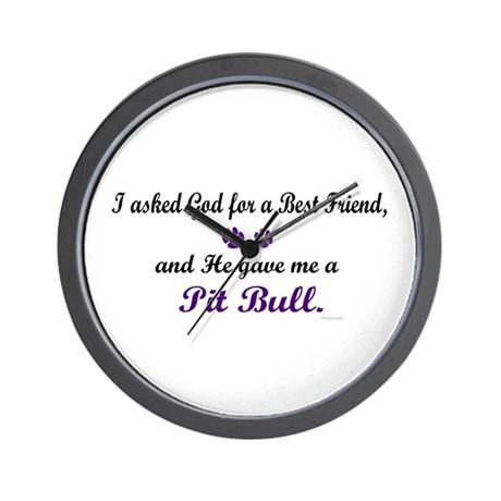 God Gave Me A Pit Bull Wall Clock