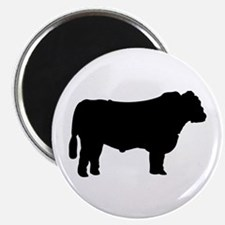Black Angus Silhouette Magnets
