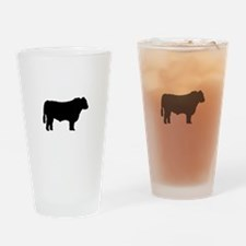 Black Angus Silhouette Drinking Glass