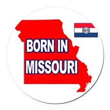 MISSOURI BORN Round Car Magnet