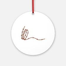 Barbed Wire Ornament (Round)
