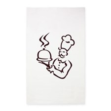 Chef Outline Area Rug