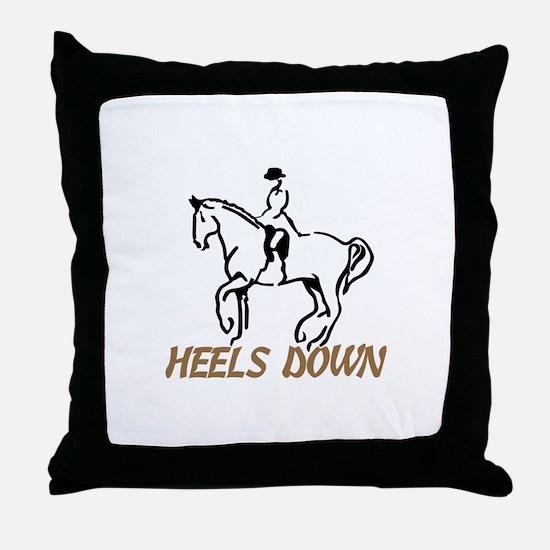 Heels Down Throw Pillow