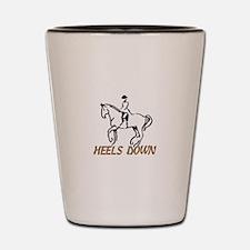 Heels Down Shot Glass