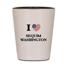 I love Sequim Washington Shot Glass