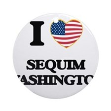 I love Sequim Washington Ornament (Round)