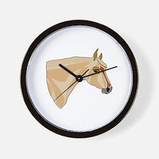 Palomino Head Wall Clock