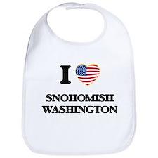 I love Snohomish Washington Bib
