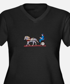 Horse and Cart Plus Size T-Shirt