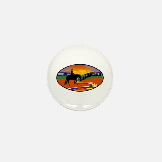 Western Scene Mini Button (100 pack)