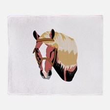 Haflinger Horse Throw Blanket