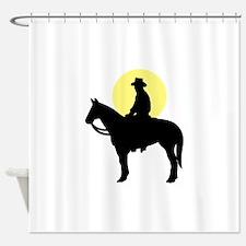 Rider Silhouette #2 Shower Curtain