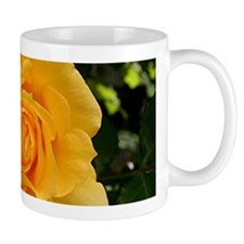 Yellow rose flower in bloom in garden 2 Mugs