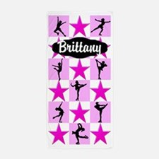 Pink Skater Girl Beach Towel
