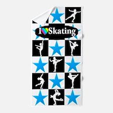 Skating Star Beach Towel
