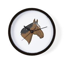 Standardbred Head Wall Clock