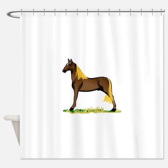 Tennessee Walking Horse Shower Curtain