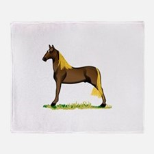 Tennessee Walking Horse Throw Blanket