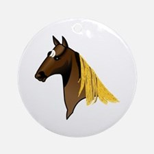 Tennessee Walking Horse Head Ornament (Round)