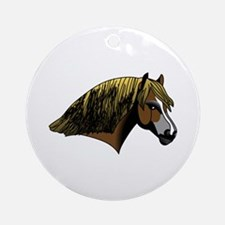 Welsh Pony #2 Head Ornament (Round)