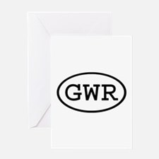 GWR Oval Greeting Card
