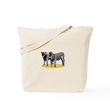 Black Angus Calves Tote Bag