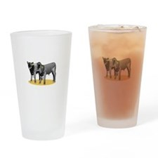 Black Angus Calves Drinking Glass