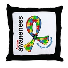 For My Granddaughter Autism Throw Pillow