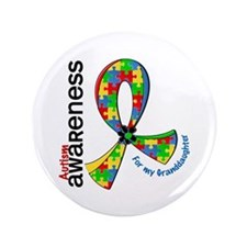 For My Granddaughter Autism Button