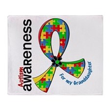 For My Granddaughter Autism Throw Blanket