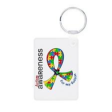 For My Godson Autism Aluminum Photo Keychain