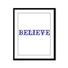 Twisted Imp Believe (Blue) Framed Panel Print