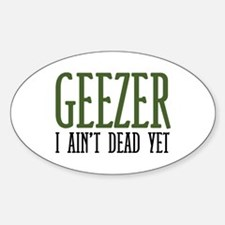 Geezer Oval Decal