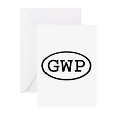 GWP Oval Greeting Cards (Pk of 10)