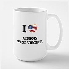 I love Athens West Virginia Mugs